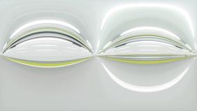 360 degrés de panorama tunnel automatique, entraînement rapide rendu 3d illustration de vecteur