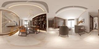 360 degrés intérieur à la maison photo libre de droits