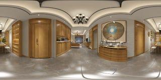 360 degrés intérieur à la maison images libres de droits