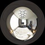 degrés sphériques de l'illustration 3d 360, panorama sans couture de bedr Photographie stock