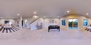 degrés sphériques de l'illustration 3d 360, panorama sans couture d'une maison photos libres de droits