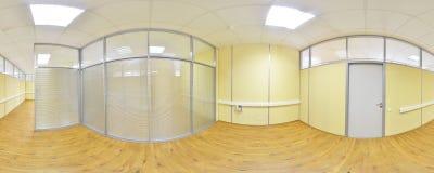 360 degrés sphériques de la projection de panorama, panorama dans la pièce vide intérieure en appartements plats modernes Images libres de droits