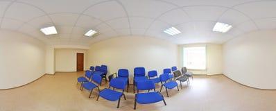360 degrés sphériques de la projection de panorama, panorama dans la pièce vide intérieure en appartements plats modernes Photos stock