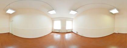 360 degrés sphériques de la projection de panorama, panorama dans la pièce vide intérieure en appartements plats modernes Images stock