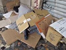 Degradação urbana em Roma foto de stock