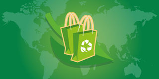 Degradable reusable recycle bag Stock Images