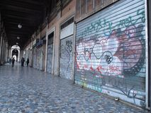 Degradación urbana en Roma, Italia imagen de archivo