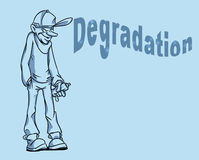 Degradation youth graffiti cartoon, Royalty Free Stock Images