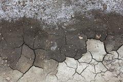 Degradazione di salinità del terreno, terra incrinata immagini stock libere da diritti
