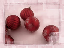 Degraded Christmas Balls Stock Images