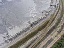 Degraded landscape minerals mine in south of Poland. Destroyed land Stock Images