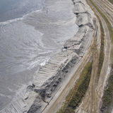 Degraded landscape minerals mine in south of Poland. Destroyed land Stock Photography