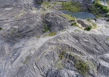 Degraded landscape old coal mine in south of Poland. Destroyed l Royalty Free Stock Photography