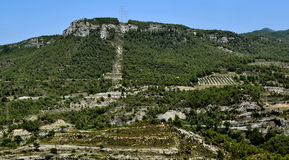 Degraded landscape. Landscape degraded by various human activities, in the region of Anoia (Barcelona Stock Photo
