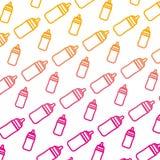 Degraded line plastic bottle feeding object background. Vector illustration vector illustration
