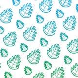Degraded line tropical leaf botany nature background. Vector illustration royalty free illustration