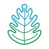 Degraded line tropical leaf botany nature style. Vector illustration vector illustration