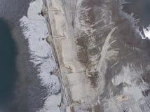 Degraderade landskapmineraler bryter i söder av Polen Förstört l Fotografering för Bildbyråer