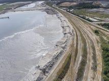Degraderade landskapmineraler bryter i söder av Polen Förstört l Royaltyfri Fotografi