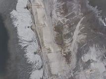 Degraderade landskapmineraler bryter i söder av Polen Förstört l Royaltyfria Foton