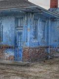 Degrado urbano blu Fotografia Stock Libera da Diritti