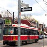 Degrassi gata i Toronto Arkivfoto