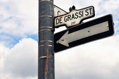 Degrassi Steet firma adentro Toronto Imagen de archivo libre de regalías