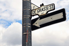 Degrassi Steet sign in Toronto Royalty Free Stock Image
