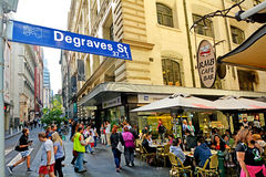 Degraves gata - Melbourne Arkivbild