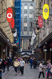 Degraves Street in central Melbourne Royalty Free Stock Photos