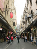 Degraves Street in MELBOURNE AUSTRALIA Royalty Free Stock Image