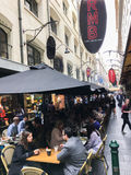 Degraves Street in MELBOURNE AUSTRALIA Royalty Free Stock Images