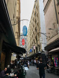 Degraves Street in MELBOURNE AUSTRALIA Royalty Free Stock Photography