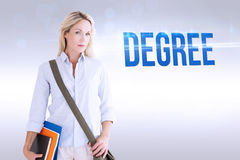 Degree against grey background Stock Photos