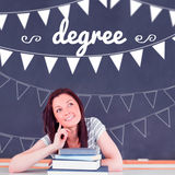 Degree against student thinking in classroom Stock Photos