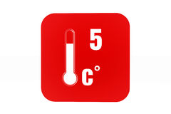 5 degree Celsius Royalty Free Stock Image