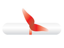 Degree (diploma). Vector illustration of degree (diploma vector illustration