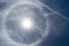 A 22 degree halo Stock Photos