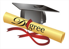 Degree illustration Royalty Free Stock Images