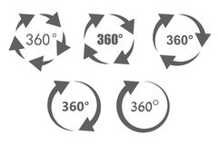360 degree overview icons Stock Photo