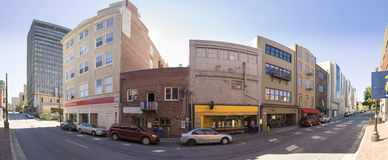 180 degree panorama of downtown Asheville Royalty Free Stock Photography