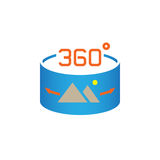 360 Degree Panorama Image sign. vector icon , solid logo illustration, pictogram isolated on white. Royalty Free Stock Photos