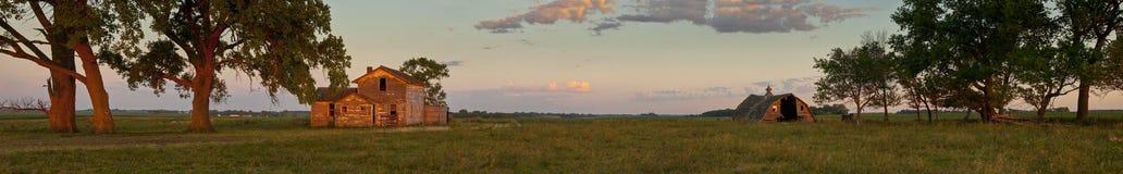 180 degree panorama of south dakota. 180 degree panorama of abandoned south dakota farmstead Royalty Free Stock Photos
