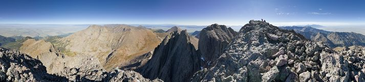 Crestone Peak Summit Panorama Royalty Free Stock Images