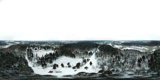 360-degree panoramiczny widok z lotu ptaka Chertanovo okręg, Moskwa Zdjęcie Stock