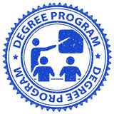 Degree Program Shows Stamps Educated And Education Stock Photos