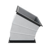30 degree rectangular bend duct  . 3d rendering Stock Photography