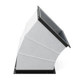 45 degree rectangular bend duct  isolated. 3d rendering Stock Photos