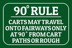 Degree rule golf sign for golf course