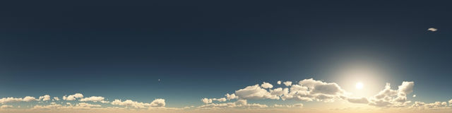 360 degree seamless panorama of clouds Royalty Free Stock Photos